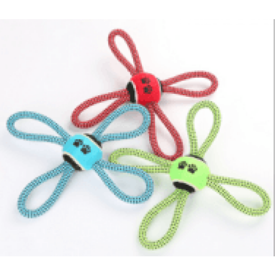 """ROPE WITH RING IN 8 OF 13 """"C / TENNIS BALL 2.5"""
