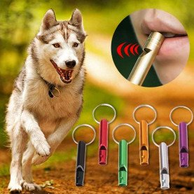 Pet Dog Training Whistle Dogs Puppy Sound Portable Flute Aluminum Alloy Pet Shop Dog Acessorios
