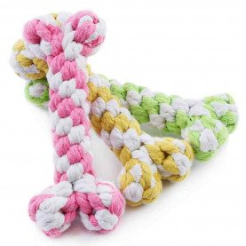 1Pc 15cm Hemp Rope Chew Toys For Dog Cat Random Color Knot Dog Toys Bite Resistant Supplies Dogs Pets Acessorios