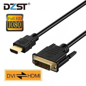 DZLST HDMI To DVI Cable 1080P Gold Plated Male to 24+1 Pin Male Video Cable for HDTV DVD Projector 1 2 3 5 M HDMI TO DVi Adapter