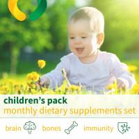 बच्चों के पैक - मासिक आहार की खुराक सेट
